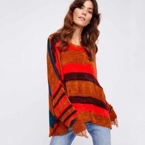 Free People All About You Plush Striped Pullover